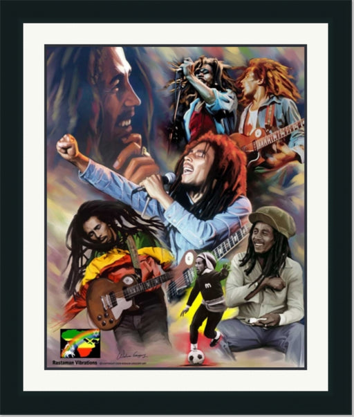 Bob Marley | Reggae Music Legend | Wall Art Print 11X14, 20X24, 24X30