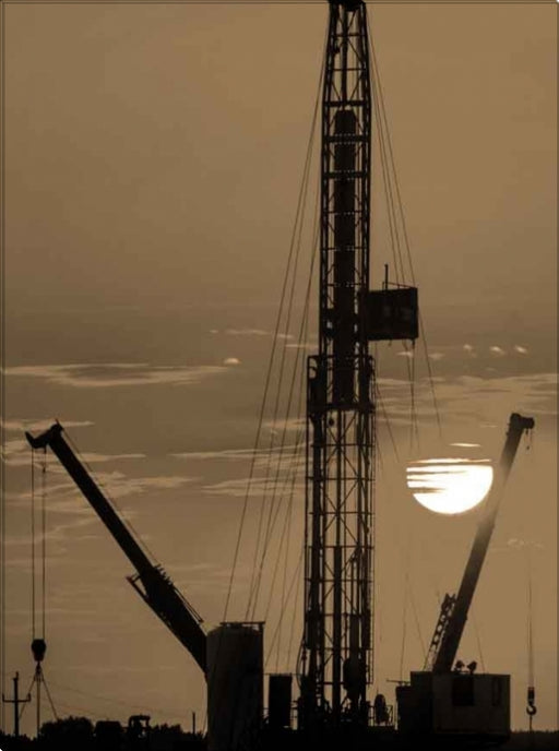Drilling at Sunset