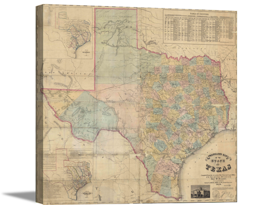 1858 Map of Texas