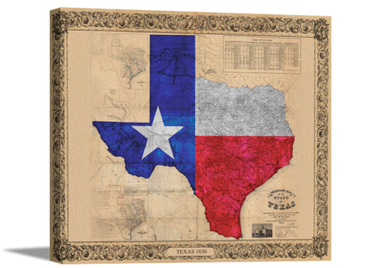 Framed Texas Color Map | High Quality Wall Art 11X15, 18X24, 24X32