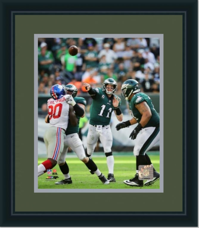 Carson Wentz | NFL Quarterback Philadelphia Eagles | Wall Art Print 11X14