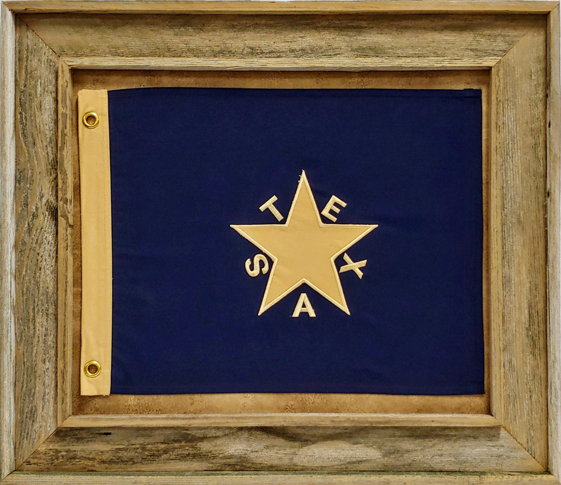 De Zavala Flag with Grommets - Barnwood