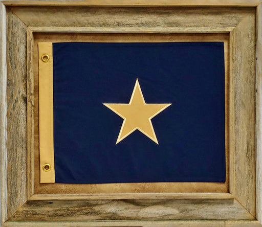 Bonnie Blue Flag With Grommets Barnwood | Wall Art Print | 20X24