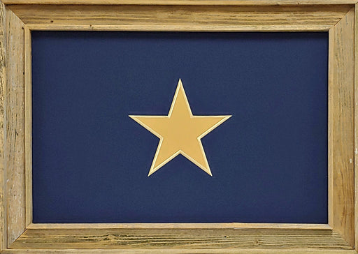 Bonnie Blue Flag Stretched Barnwood | Wall Art Print | 20X24
