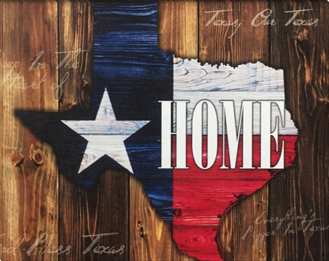 Gallery Wrapped Texas Home Canvas | High Quality Wall Art 18X24, 24X32, 30X40