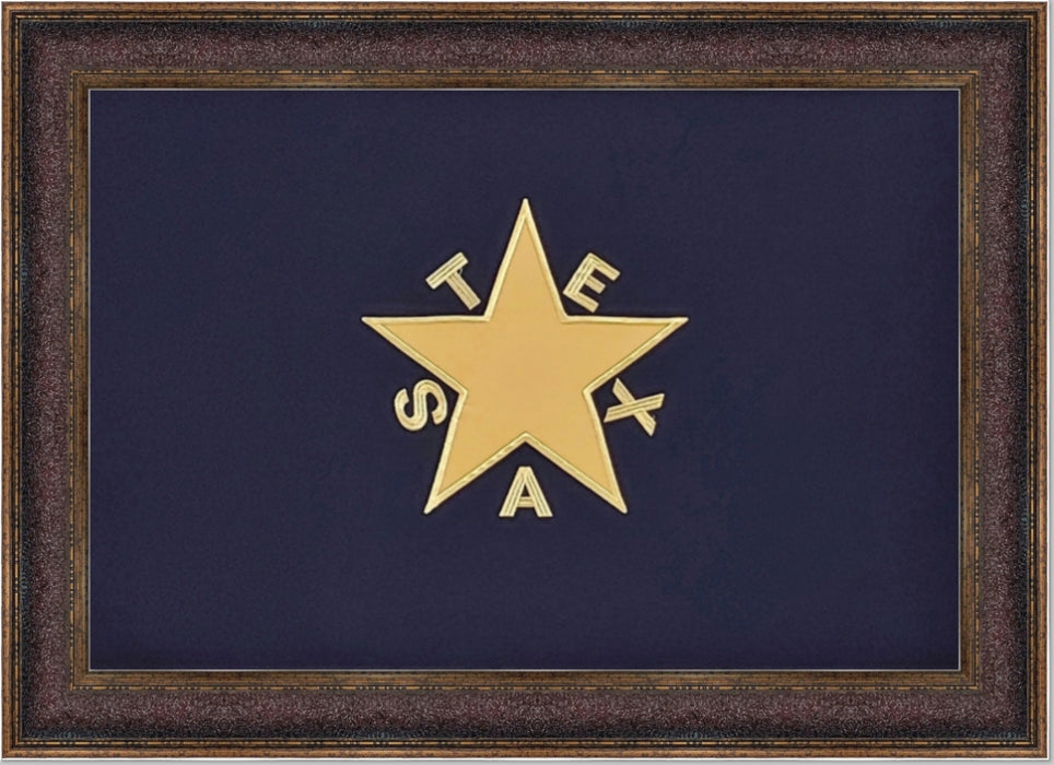 De Zavala Flag | Republic of Texas | Wall Art Print | 22X34