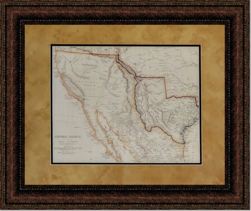 Antique Map of North America Map | Wall Art Print | 11X14, 16X20, 24X30