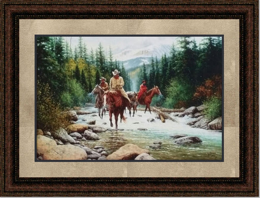 Framed White Water Crossing | High Quality Wall Art 20X24