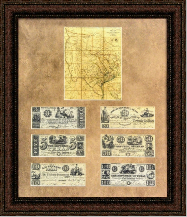 Texas Map and Money