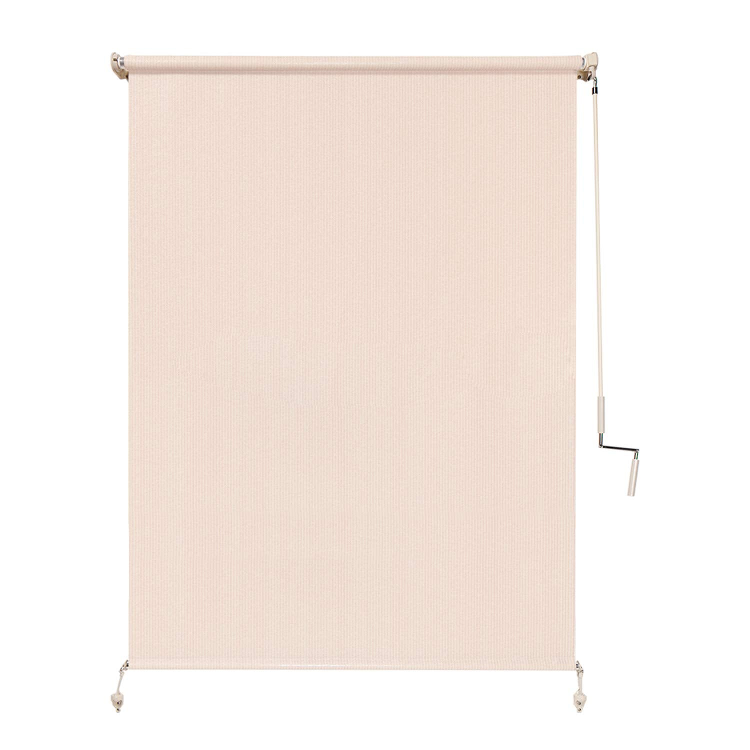 Coolaroo Wand-Operated Roller Shade, (4' x 8'), Pebble