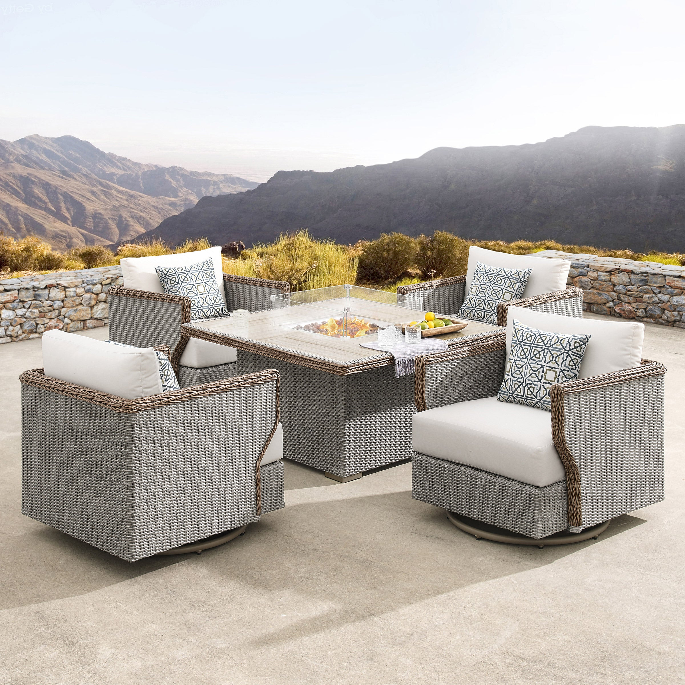 Richmond 5-piece Fire Chat SetRichmond 5-piece Fire Chat Set
