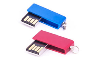 Metal Pen Drive - Mini Swivel Color