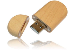 Wooden Pen Drive - Curved