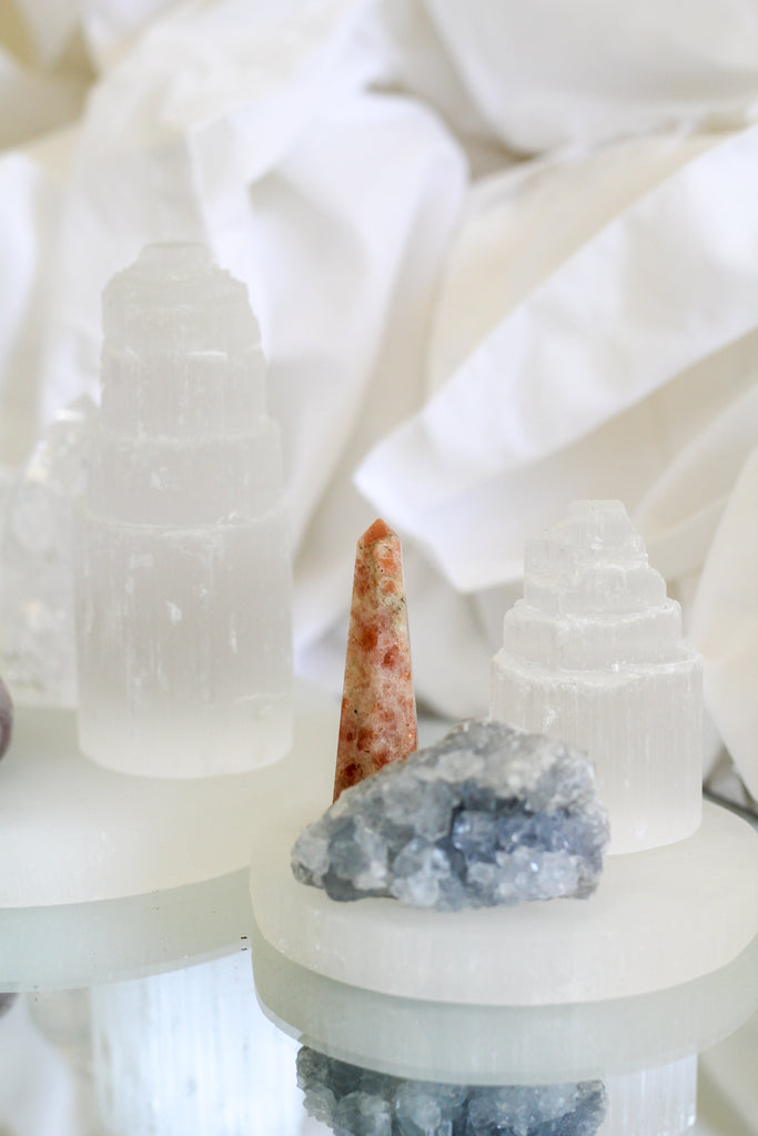 SELENITE CHARGING PLATE / / SMALL