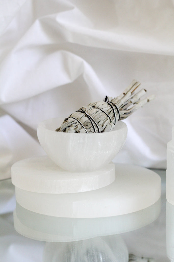 SELENITE CHARGING BOWL / / SMALL