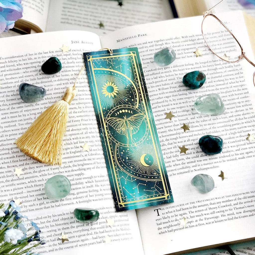 LUNA MOTH BOOKMARK