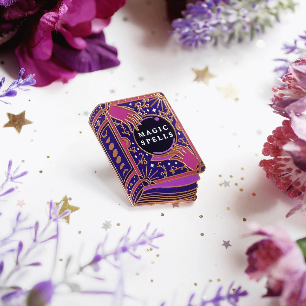 BOOK OF MAGIC SPELLS ENAMEL PIN