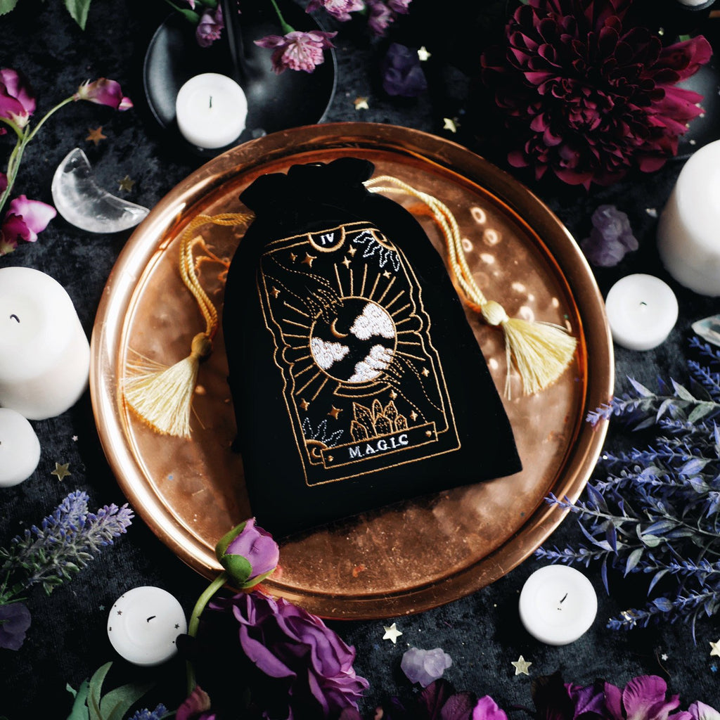 'MAGIC TAROT' DECK POUCH BLACK