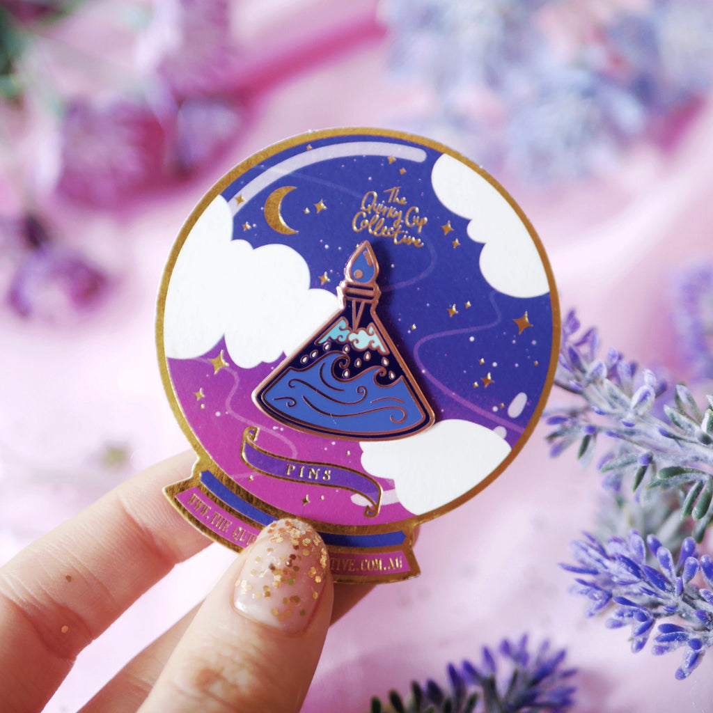 CALMING POTION BOTTLE ENAMEL PIN
