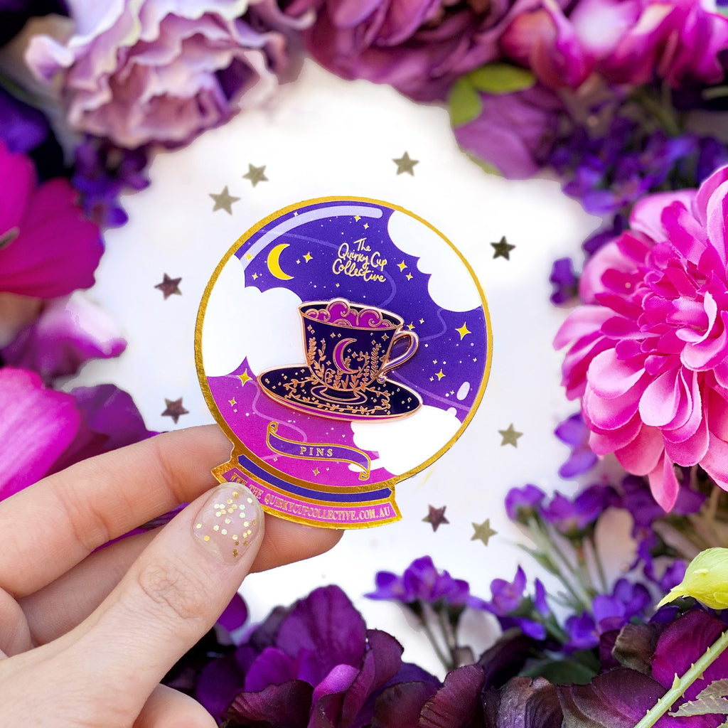 MYSTICAL MOON TEACUP ENAMEL PIN