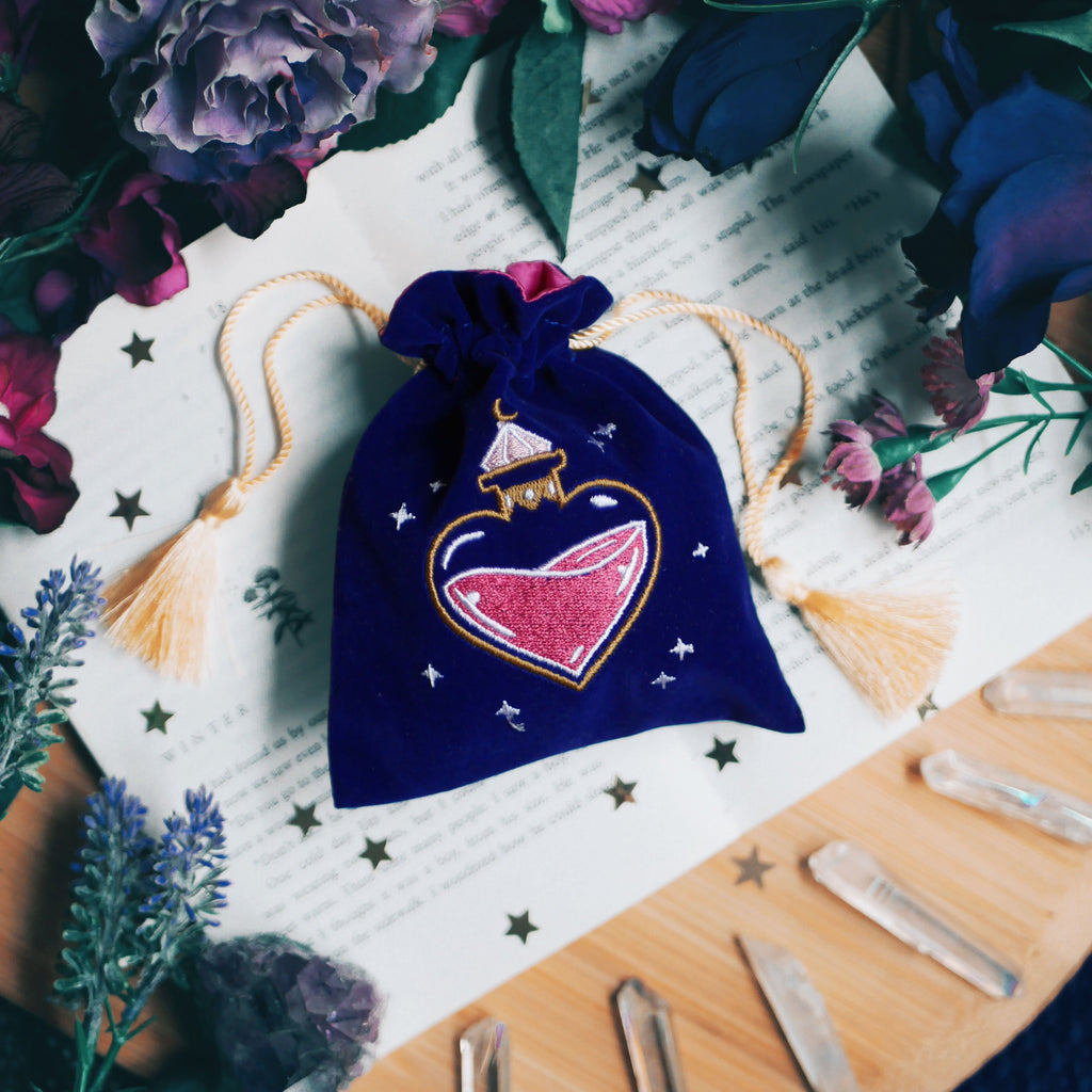 LOVE POTION BOTTLE TRINKET POUCH