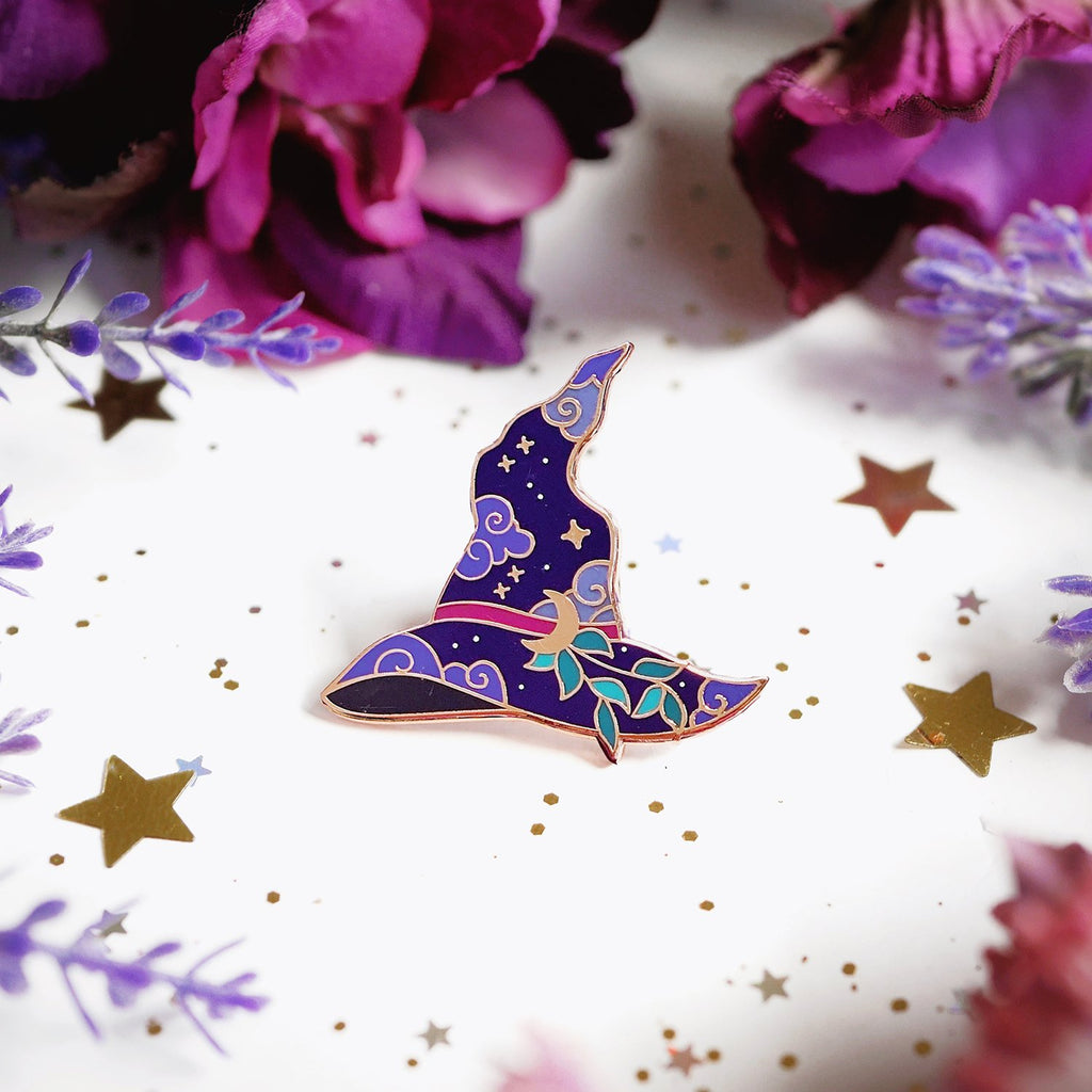 WITCH'S HAT ENAMEL PIN