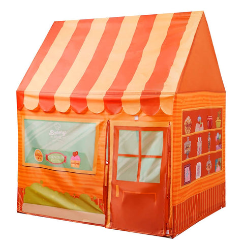 Yesteria Bakery House Play Tent for Kids - Indoor Pop Up Playhouse Tent for Toddler - Foldable Pretend Play Tent with Carry Bag, Orange