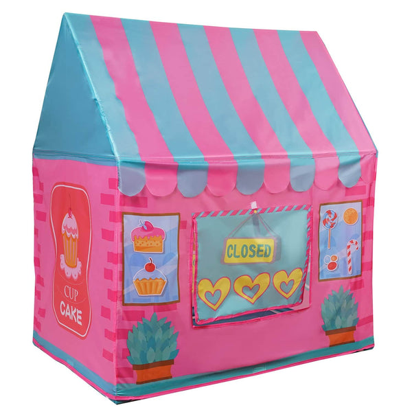 Yesteria Dessert House Play Tent for Kids - Indoor Pop Up Playhouse Tent for Toddler - Foldable Pretend Play Tent with Carry Bag, Pink