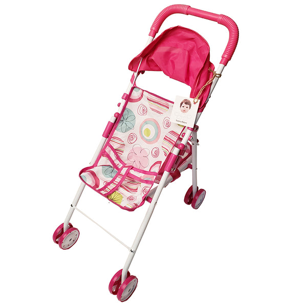 Yesteria Reborn Baby Doll Stroller Foldable Doll Stroller with Universal Wheels
