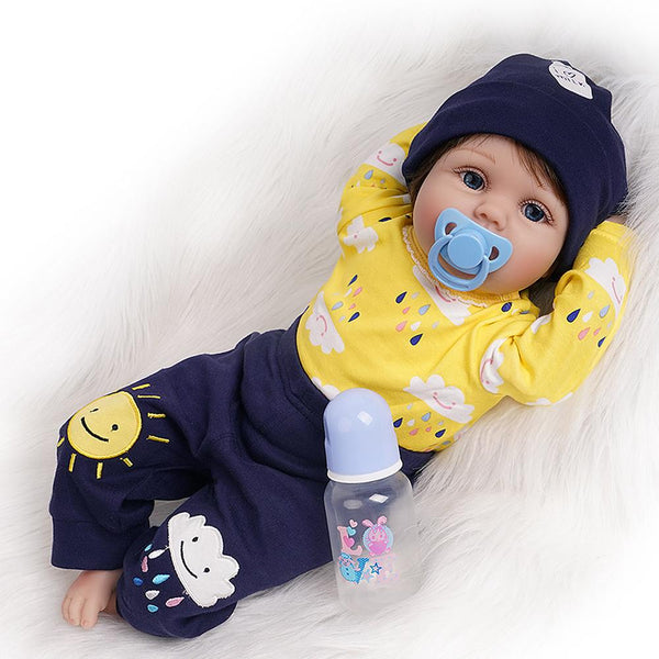 George-Lifelike Reborn Reborn Doll Boy with 2 Outfits