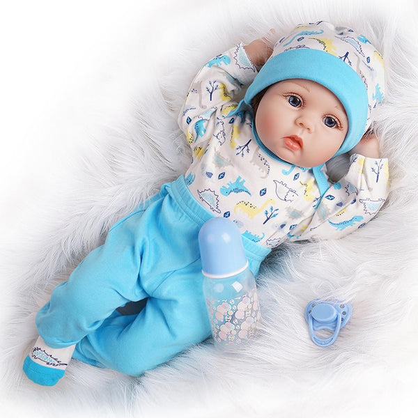 Blue Dino-Lifelike Reborn Reborn Doll Boy