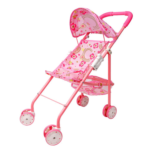 Doll Stroller Pram with Swiveling Wheels