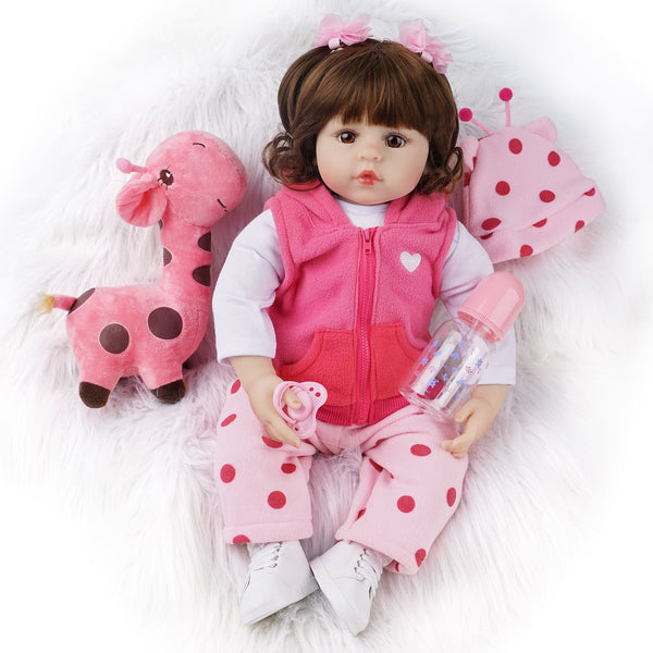 Patty-22 Inches Real Life Reborn Baby Doll Girl Cotton Body