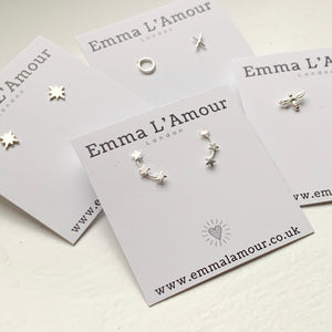 North Star Sterling Silver Earrings - emma-lamour