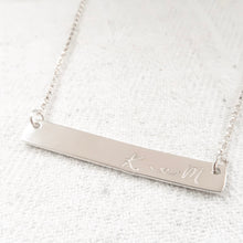 Load image into Gallery viewer, Silver Bar Necklace - emma-lamour