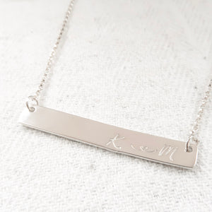 Silver Bar Necklace - emma-lamour