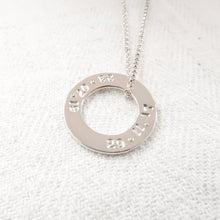 Load image into Gallery viewer, Silver Washer Necklace - emma-lamour