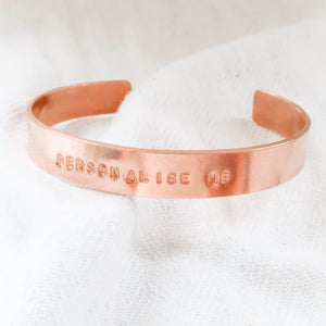 Personalised Chunky Copper Bangle - emma-lamour