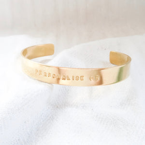 Design Your Own Chunky Personalised Brass Bangle - Emma L'Amour