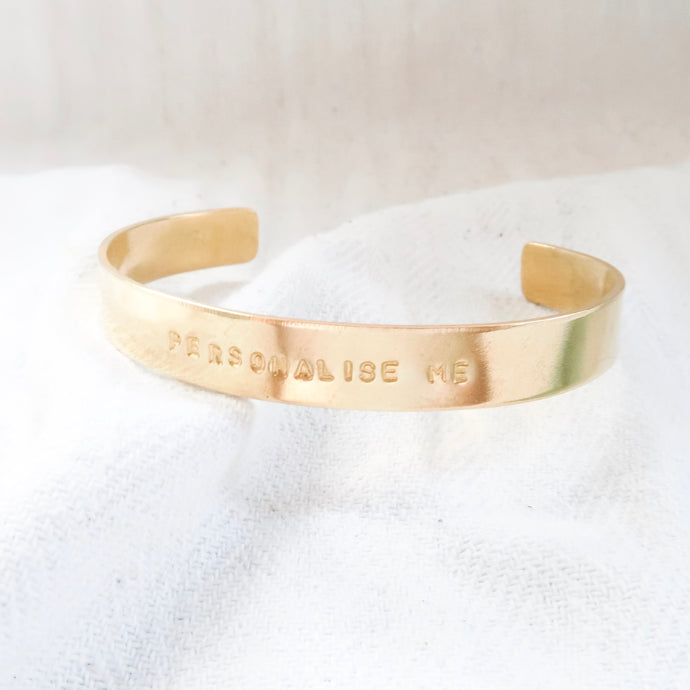 Personalised Chunky Brass Bangle - emma-lamour