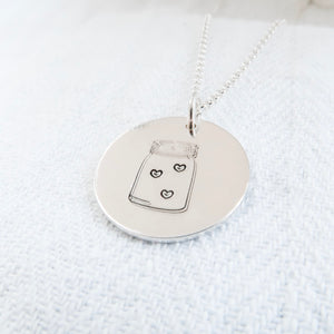 Jar Of Love Silver Necklace - Emma L'Amour