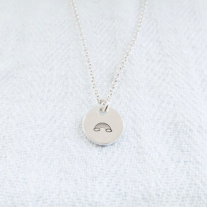 Over The Rainbow Silver Necklace - Emma L'Amour