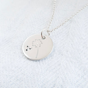 Make A Wish Sterling Silver Disc Necklace - emma-lamour