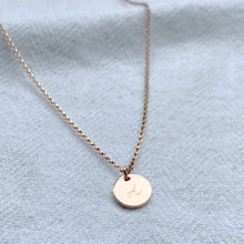 Load image into Gallery viewer, Personalised Rose Gold Mini Disc Necklace - emma-lamour