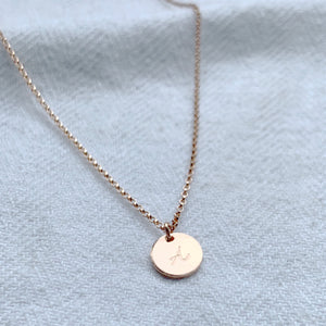Personalised Rose Gold Mini Disc Necklace - emma-lamour