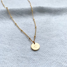 Load image into Gallery viewer, Gold Mini Disc Necklace - Emma L'Amour
