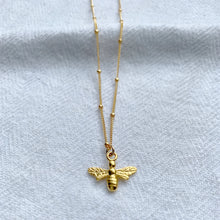 Load image into Gallery viewer, British Bee Necklace - Silver, Gold and Rose Gold - Emma L'Amour