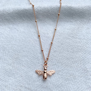 British Bee Necklace - Sterling Silver, Gold and Rose Gold - emma-lamour