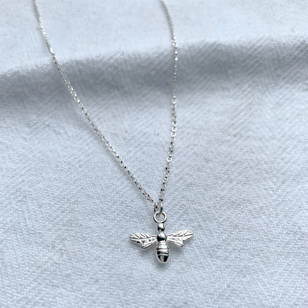British Bee Necklace - Silver, Gold and Rose Gold - Emma L'Amour