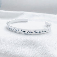 Load image into Gallery viewer, When It Rains Look For The Rainbow | Personalised Bangle - Emma L'Amour